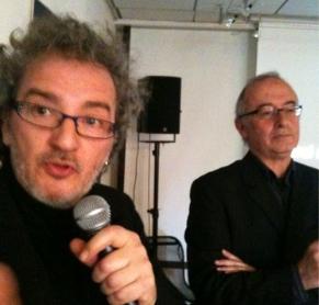 Le duo inséparable d'A Vaulx Jazz : Robert Lapassade et Thierry Serrano qui tire cette année sa révérence (Photo A Vaulx Jazz)