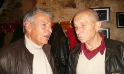 Mario Stanchev et Yves Cher lors de la soirée souvenirs consacrée au Hot Club de Lyon à Raoul Bruckert.