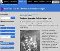 Les 70 ans du Hot Club à la BM de Lyon